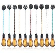 2M E27 Cable de tela trenzada Vintage Reino Unido enchufe en lámpara colgante bombilla soporte zócalo lámpara Bases