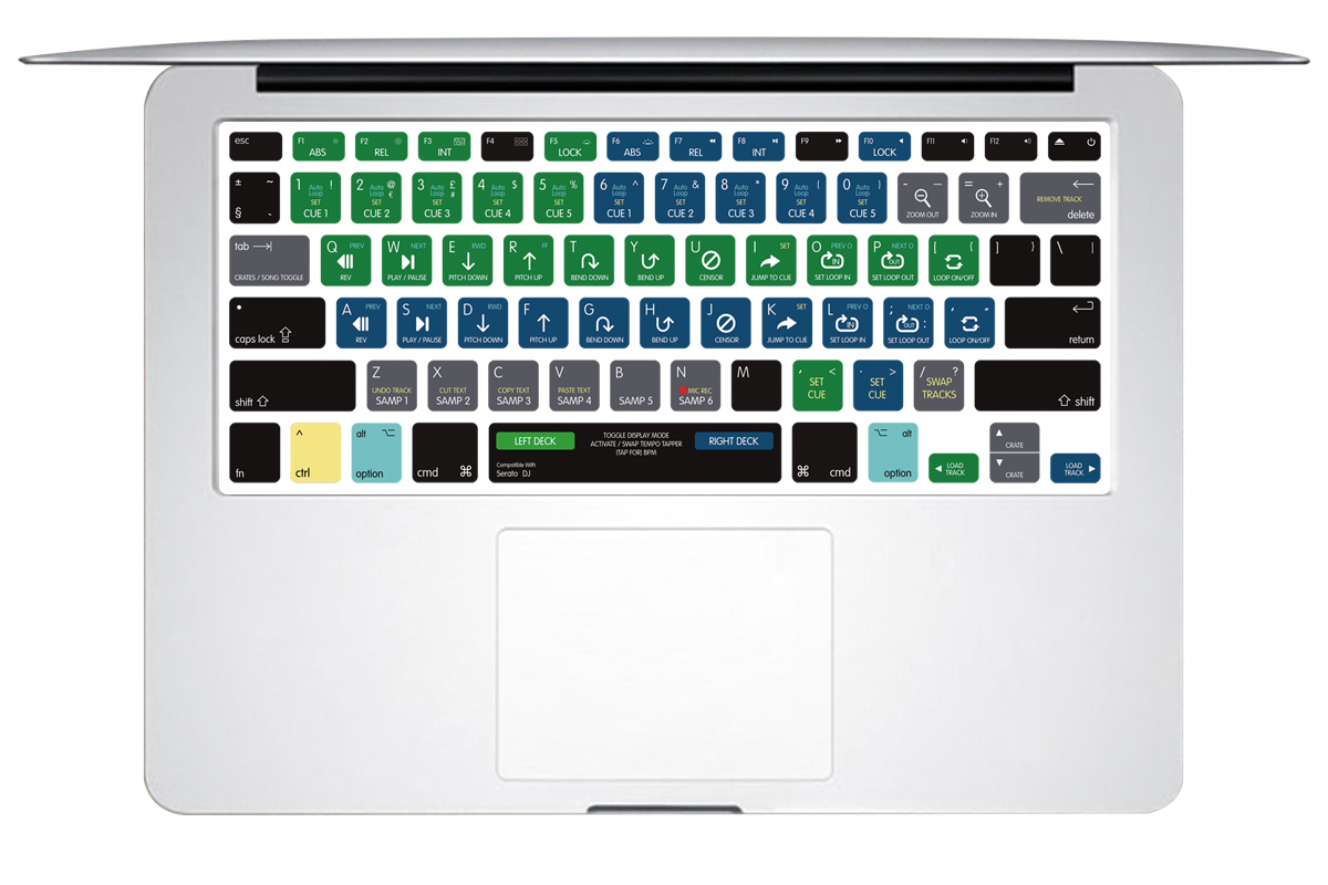 For Macbook Pro Air 13 15 A1278 US Final Cut Pro Logic Pro X Ableton Live Lightroom InDesign Shortcut Keyboard Skin Cover
