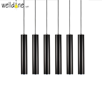 Modern Kitchen Lamp Dining Room Bar Counter Shop Pipe Pendant Lights Kitchen Light Cylinder Aluminum LED decoration