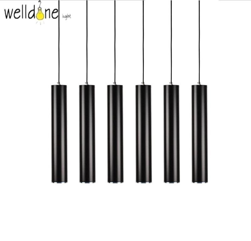 Modern Kitchen Lamp Dining Room Bar Counter Shop Pipe Pendant Lights Kitchen Light Cylinder Aluminum LED decoration