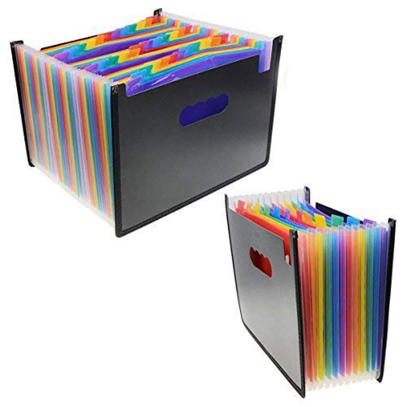 Expanding Files Folders 12+36 Pockets-Portable Expandable Accordion A4 Size And Letter Size File Folder Oxford Document Wallet
