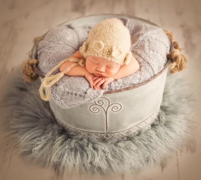 Fotografia de recém-nascidos Posking Balde Banheira de Bebê Recém-nascido Adereços Fotografia Posando com Alças, Assentos Do Bebê Foto Prop Infantil Tigela De Ferro