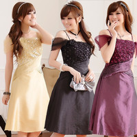F 3XL Brand Plus Size Ladies Sexy Elegant Spaghetti Strap Sequined Flower Wedding Party Banquet Women