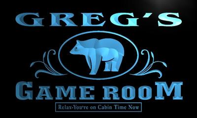 x0172-tm Gregs Hideaway Game Room Custom Personalized Name Neon Sign Wholesale Dropshipping On/Off Switch 7 Colors DHL