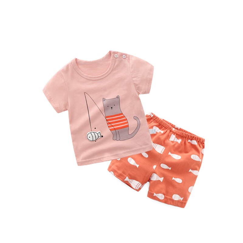Summer season Child Ladies Clothes Units Cartoon Kids Clothes T-shirt+Shorts Youngsters Garments Toddler Boys Outfits Sport Fits Clothes Units, Low-cost Clothes Units, Summer season Child Ladies Clothes Units Cartoon...