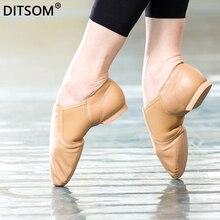 лучшая цена Hot Sale Natural Leather Stretch Slip On Jazz Dance Shoes For Children Women Men Soft Exercise Shoes Ballet Shoe Dancing Sneaker