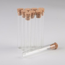 5ml 12*75mm Small Glass Test Tube Vials Jars With Corks Stopper Empty Glass Transparent Mason Jars Bottles 100pcs Free Shipping