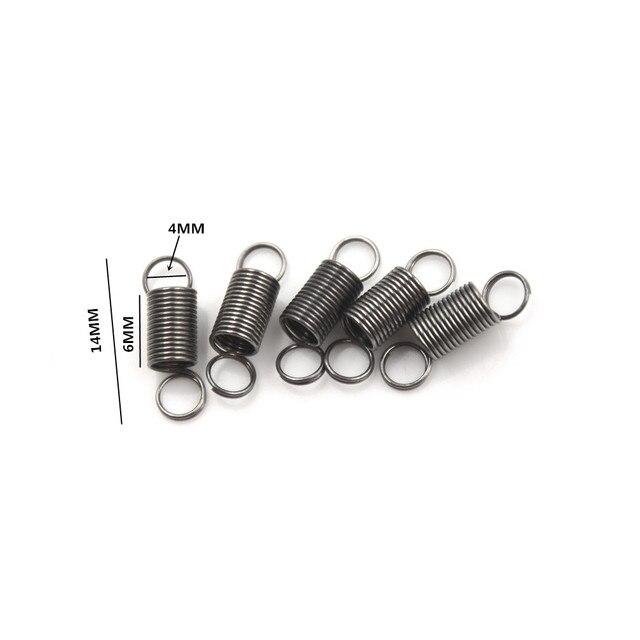 10 יח'\חבילה DIY צעצועי משלוח חינם Russiato 30 MM 4mm נירוסטה קטן אביב מתח עם וו עבור מתיחה
