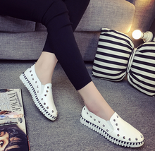 2016 Spring Style Flats for Women Cool Flat Heel Fashion Women's Flats Brand Shoes for Ladies Round Toe Plus Size Free Shipping