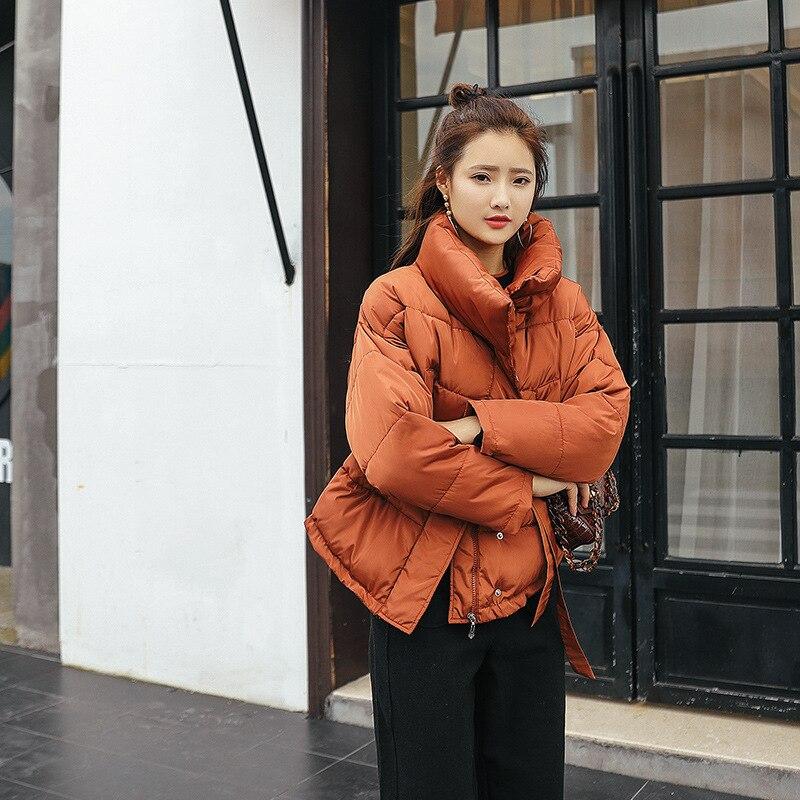 Manteau Chaud Mode Femmes Amérique Vêtements Green Collier Manches Coton De Nouvelle Hiver Épaississent light orange Black Css183 Longues Permanent 2018 Femme Europe aSnYXx76x