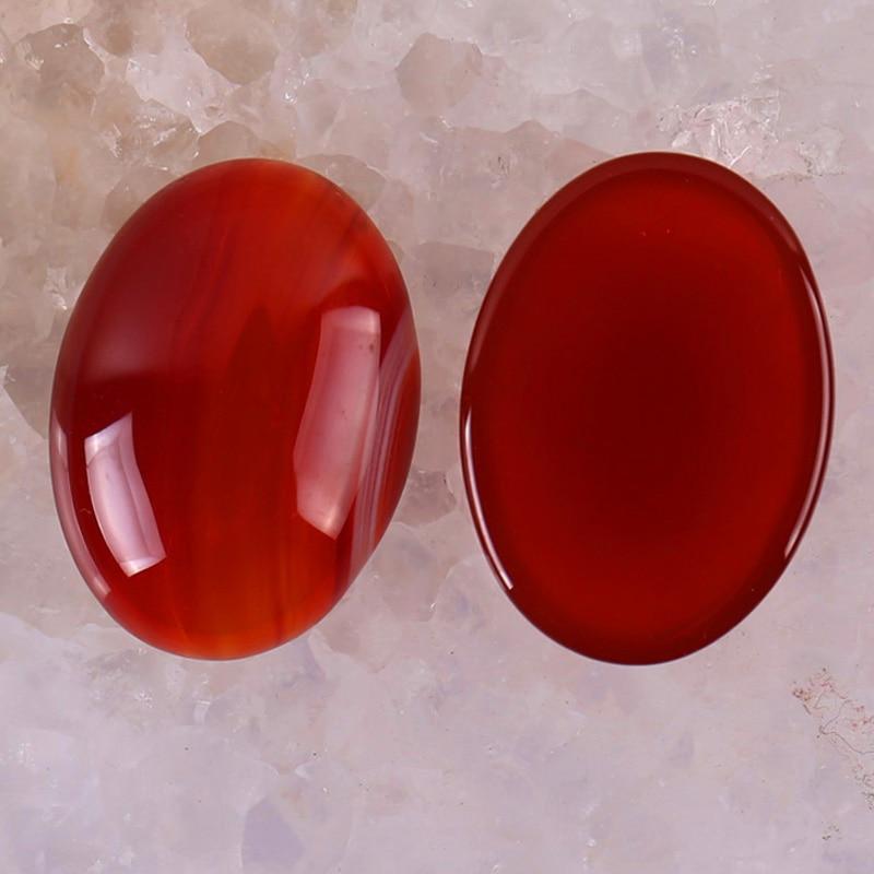 30x22MM Red Carnelian Bead Oval Cabochon CAB GEM Jewelry Making (2pcs/lot) H060
