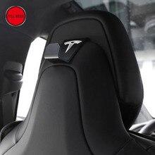 1 pc Car Seat Back Headrest Mount Hanger Holder Storage Hook Clip with Tesla Logo for Tesla Model S Model X Interior Accessories