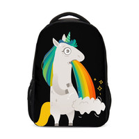 Rainbow Unicorn Horse Dog Cat Print Backpack Children Schoolbag Funny Packs Kids Bookbag Mochila Mujer Bolsa Escolar