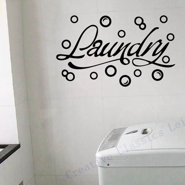 Free Shipping Modern Home Wall Stickers Laundry Room Decor Bubbles Decals Vinyl Art