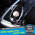 Free shipping OEM apple tree key cover for Mercedes Benz AMG logo W204 W212 W218 W221 W166