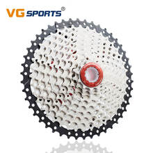 цены VG Sport 10 Speed 11-46T Cassette MTB Bicycle Freewheel Sprocket Velocidade Mountain Road Bike Steel Flywheel Bike Accessories