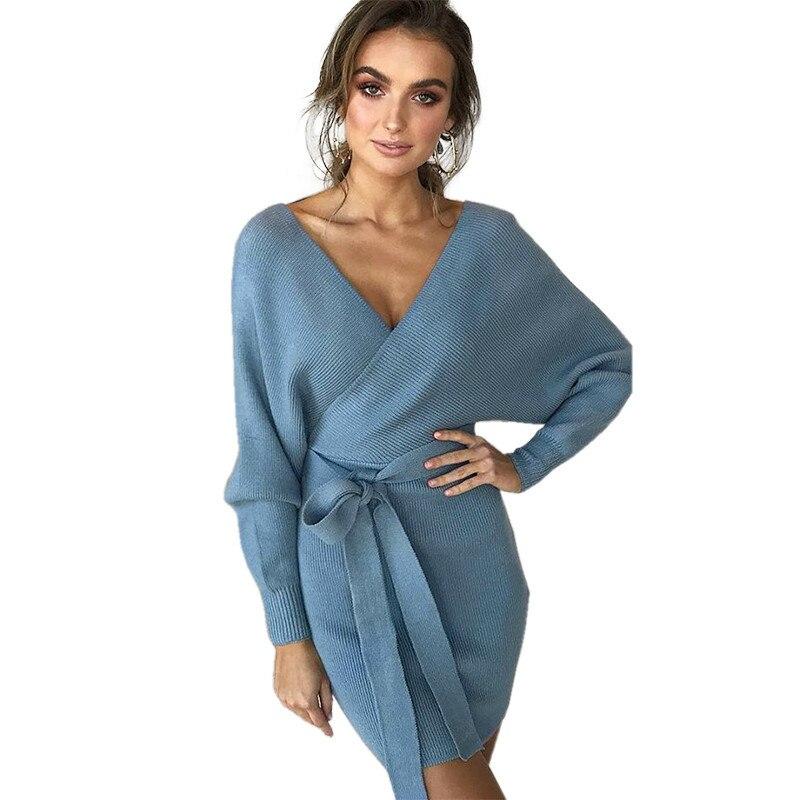 Sweater Wrap Dress
