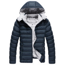a15bbe2e9c8 2018 Winter Jacket Men Thick Quilted Jackets Warm Hooded Puffer Jacket Coat  Parka for Man 5XL