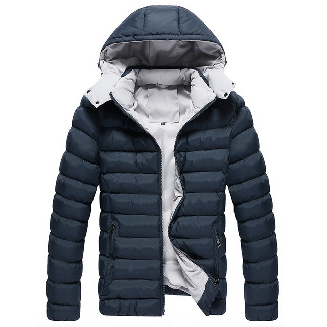 2017 Winter Jacket Men Thick Quilted Jackets Warm Hooded Puffer ... : are quilted jackets warm - Adamdwight.com