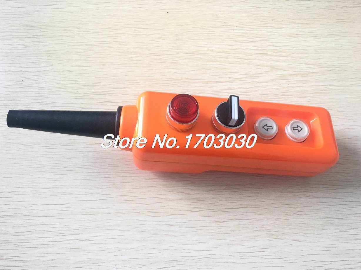 цена на 24V ON-OFF Selector Momentary Red Lamp Up Down Hoist Crane Push Button Switch