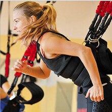 Yeni Pilates süspansiyon elastik Sling uygulama çekme halat Bungee egzersiz eğitmen kablosu direnci asılı eğitim sapanlar