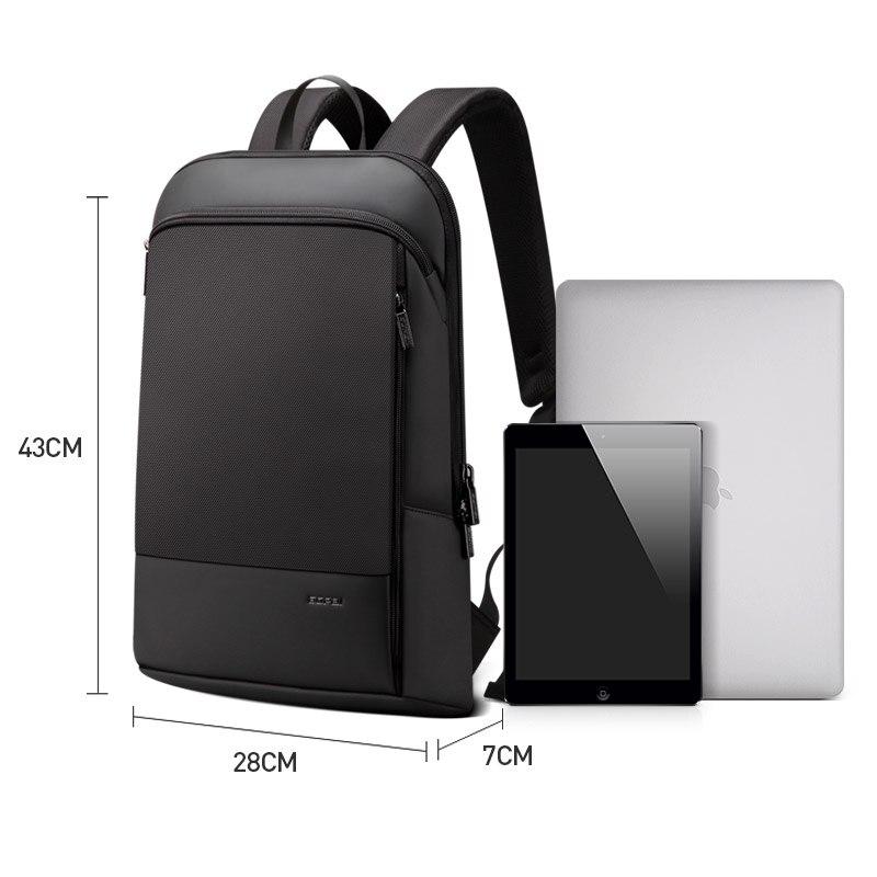 BOPAI Mince sac à dos pour ordinateur portable Hommes 15.6 pouces Bureau Travail Hommes Sac À Dos sac de travail Unisexe Noir Ultra-Léger Sac À Dos Mince sac à Dos - 6
