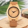 Женские кварцевые часы YISUYA  элегантные деревянные часы из натуральной кожи и бамбука в подарок