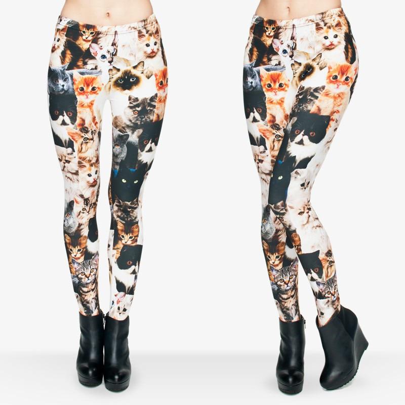 Cat Print Leggings For Girls