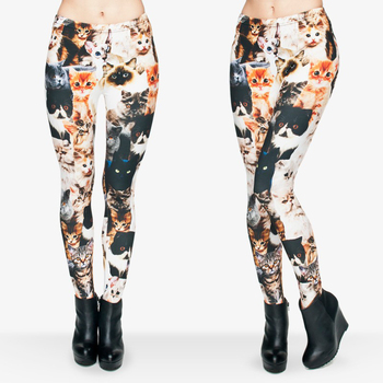 Girls funny font b leggin b font 3d different cute cats printed leggings women high waist.jpg 350x350