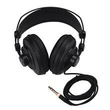 SAMSON SR850 มืออาชีพสตูดิโอการอ้างอิงหูฟังชุดหูฟังแบบไดนามิก Semi   open ออกแบบ