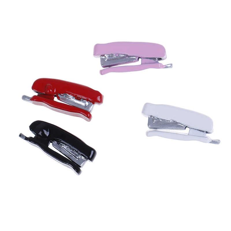 Yeni Dollhouse minyatür 1:12 oyuncak Metal zımba Model uzunluğu 1.9cm kırmızı beyaz pembe siyah WWP8973