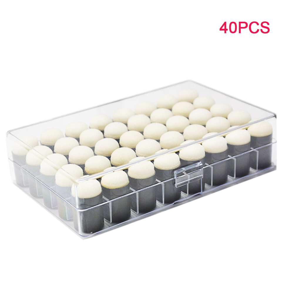 40pcs Craft Handmade With Box Scrapbooking DIY Stamping Sponge Daubers Tool Ink Pad Paint Kids Finger Multifunctional