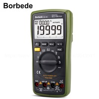 Borbede BD 99 Digital Multimeter DC AC Resistance Capacitance Peak Hold True RMS NCV Diode Tester 20000 Counts