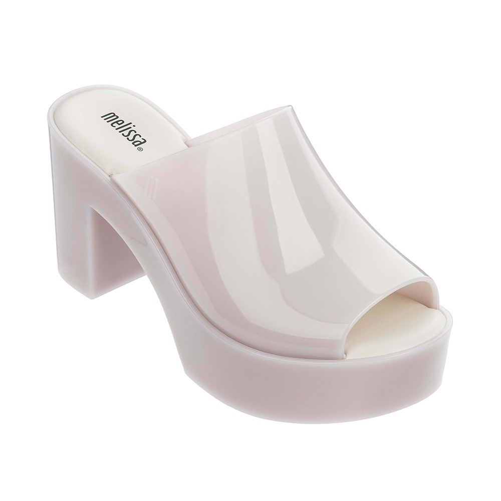 White Melissa Women Platform High Heel Sandals Jelly