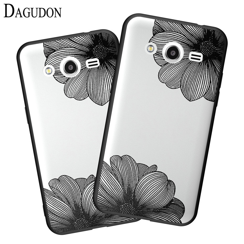 DAGUDON Phone Case For Samsung Galaxy core 2 case G355H Luxury Lace Floral Protector Hard Back Cover For Samsung core2 Case g355 ...