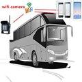 Iphone android telefone wifi camera para truck/bus rear view visão noturna impermeável 120 graus de monitoramento com 28led cam