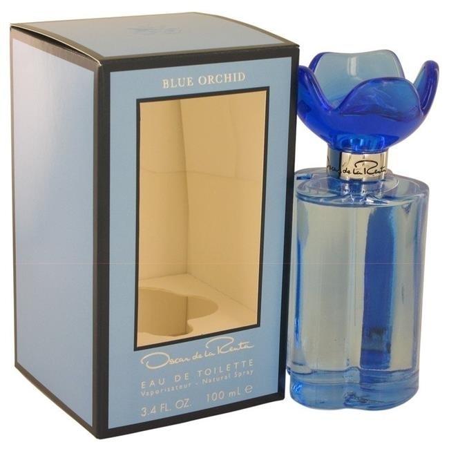 Oscar De La Renta 539013 Blue Orchid by Oscar De La Renta Eau De Toilette Spray for Women 3.4 oz miss 0 by oscar de la renta vintage шерстяная юбка 80 е