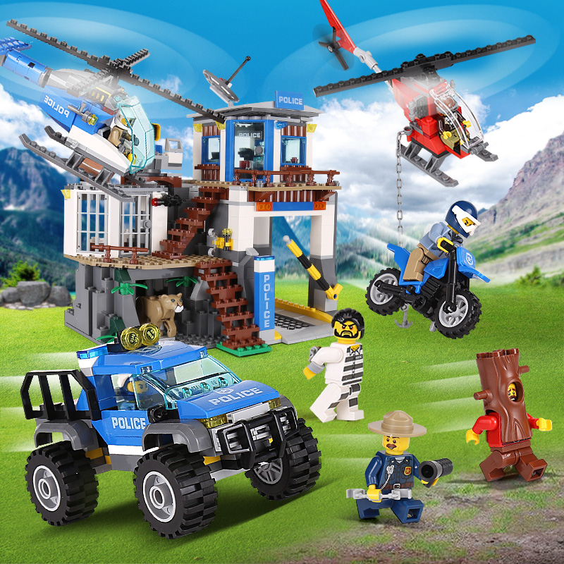 Lepin 02097 City Series The Mountain Police Headquater Set LegoINGlys 60174 Building Blocks Bricks Toys Model For Boys As Gifts