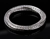 Лидер продаж choucong Роскошные ювелирные изделия стерлингового серебра 925 классический полный белый 5A cz циркония партии Для женщин свадебные