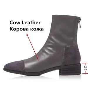 Image 3 - FEDONAS Fashion Women High Heeled Pumps Back Zipper Autumn Winter Warm Short Ankle Boots Female Casual Night Club Shoes Woman