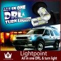 Guang Dian carro led drl luz de Circulação Diurna Luzes + Sinais de Volta Da Frente Para Suzuki SX4 2012 BAU15S PY21W S25 1156 150 dgree