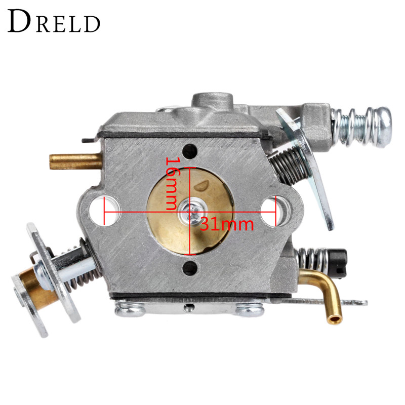 DRELD Chainsaw Carburetor Carb Grass Trimmer Parts For Walbro 33-29 Partner 350 351 370 371 420 Chain Saw Spare Parts Tool Parts