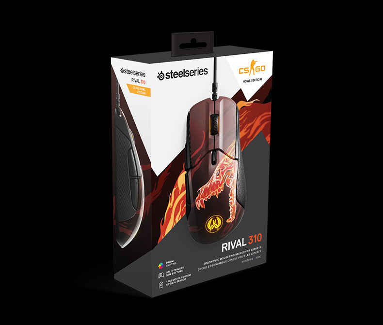 Steelseries Rival310 Game Mice Original roared HOWL CSGO Gaming Computer Mouse 12