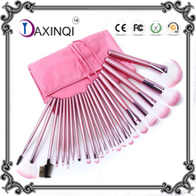 DAXINQI 22 pcs pink makeup brush set pro cosmetic powder eyeshadow foundation tool with pouch bag case