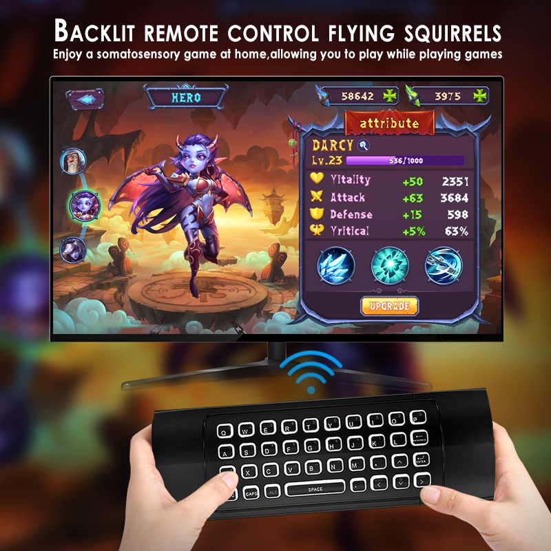 MX3 Backlit Air Mouse T3 Smart Remote Control 2.4G RF Wireless Keyboard For X96 tx3 mini A95X H96 pro Android TV Box screenshot