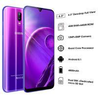 DUODUOGO S10 мобильного телефона Android 8,1 4 GB + 64 GB 6,26