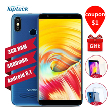 Vernee T3 Pro 4080mAh 3GB 16GB Mobile Phone 4G Bezel-less Full Screen Android 8.1 5.5'' 18:9 13MP Dual Rear Cameras Smartphone