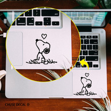 Snopy Dog Falling in Love Funny Notebook Touchpad Decal Vinyl Laptop Skin Trackpad sticker for Apple Macbook Pro/Air/Retina