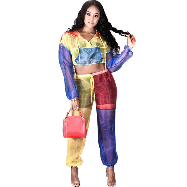 Fashion-Colorful-Patchwork-Two-Piece-Set