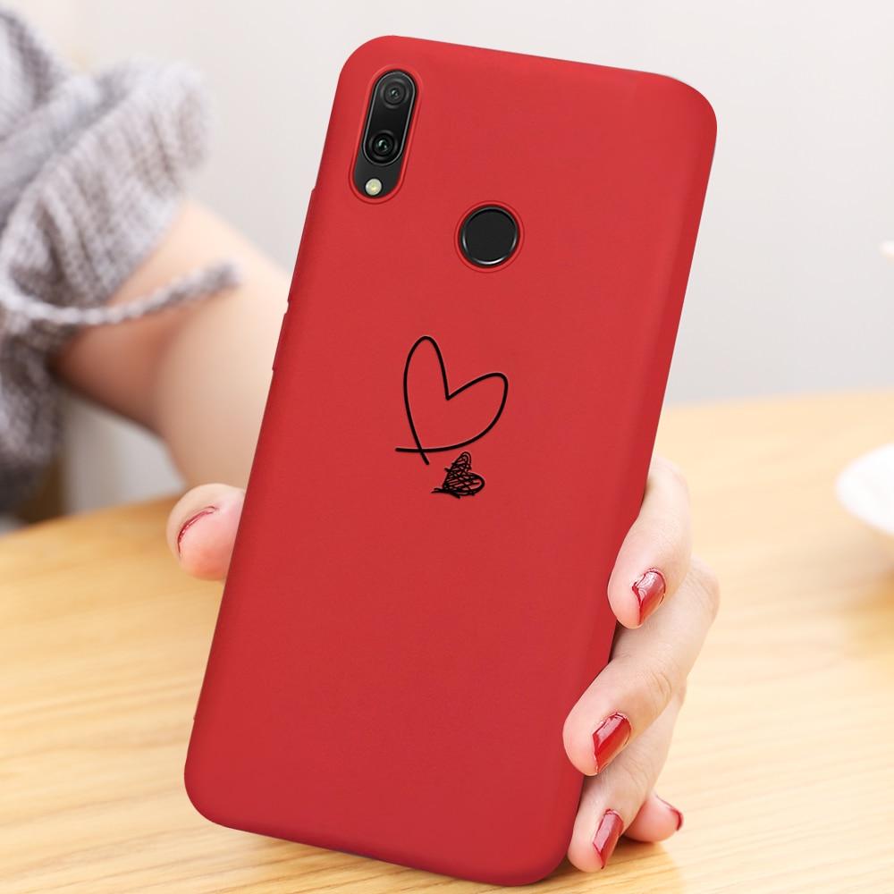 Sveglio Del Cuore di Amore Del Modello TPU Per Il Caso di Huawei P30 Pro Compagno di 20 10 P10 Lite P20 Pro In Silicone di Colore Puro copertura Su P20 Lite 2019
